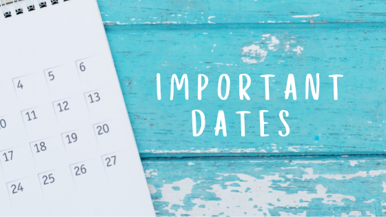 CVW Accounting important dates